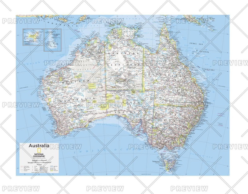 Australia Political - Atlas of the World, 10th Edition
