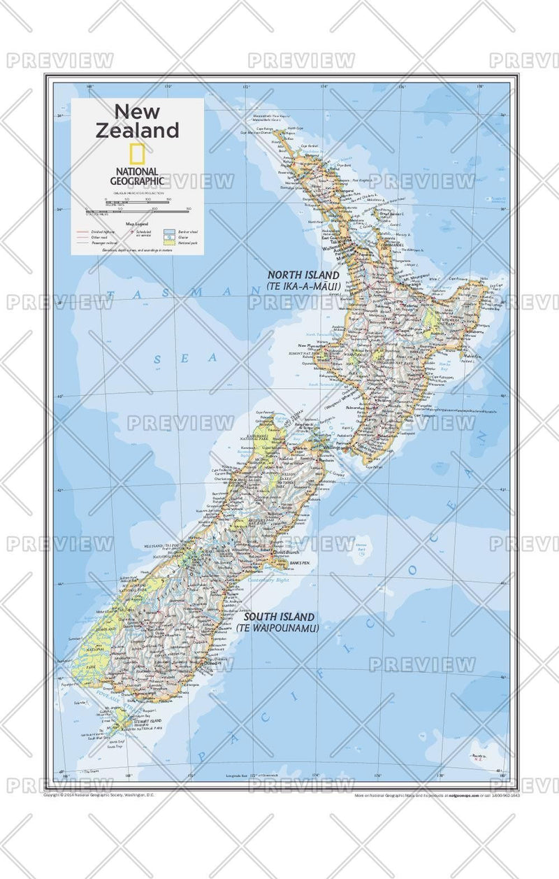 New Zealand - Atlas of the World, 10th Edition
