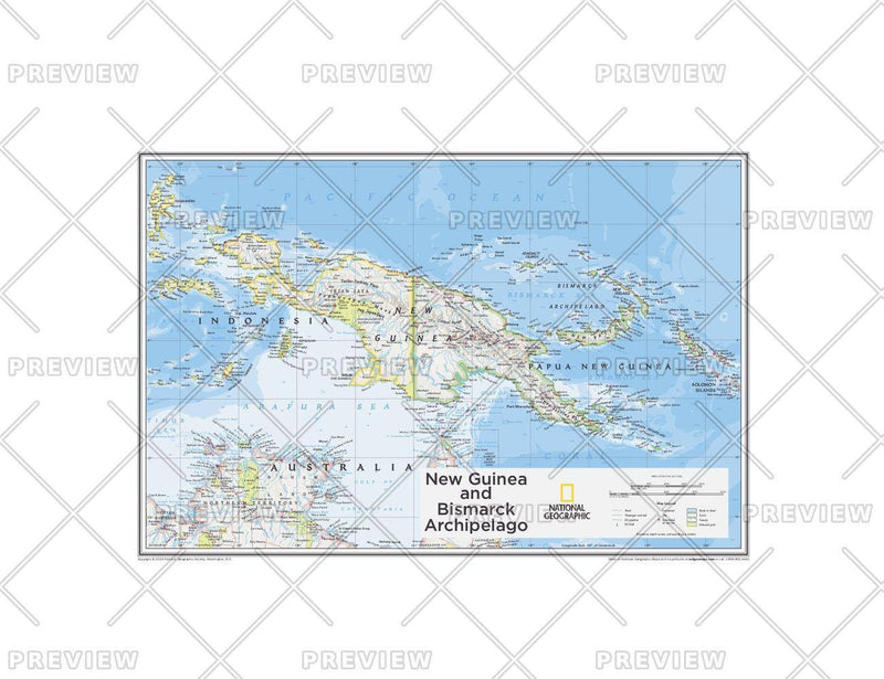 New Guinea and Bismarck Archipelago - Atlas of the World, 10th Edition