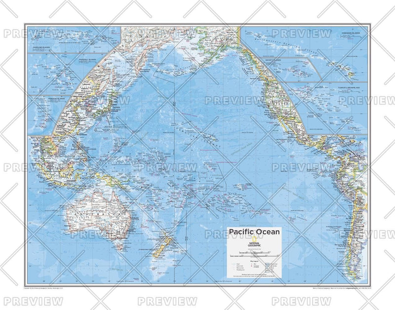 Pacific Ocean Political - Atlas of the World, 10th Edition