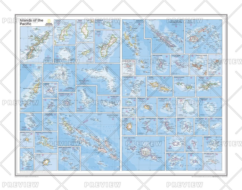 Islands of the Pacific - Atlas of the World, 10th Edition