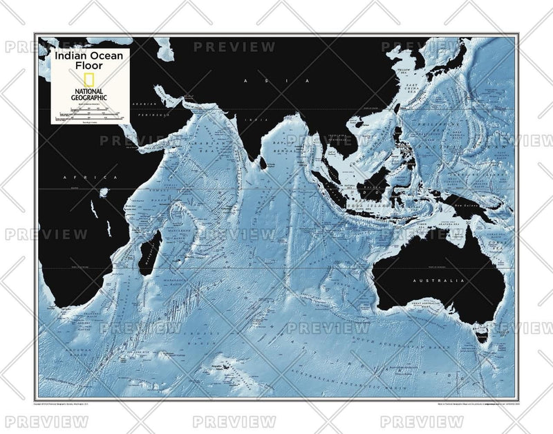 Indian Ocean Floor - Atlas of the World, 10th Edition
