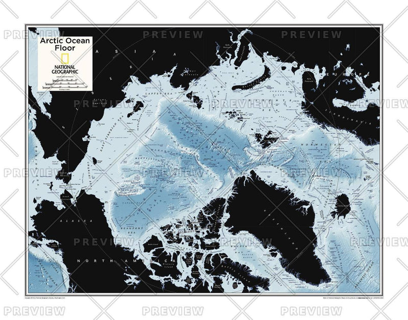 Arctic Ocean Floor - Atlas of the World, 10th Edition