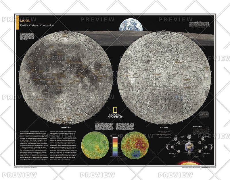 Moon - Atlas of the World, 10th Edition