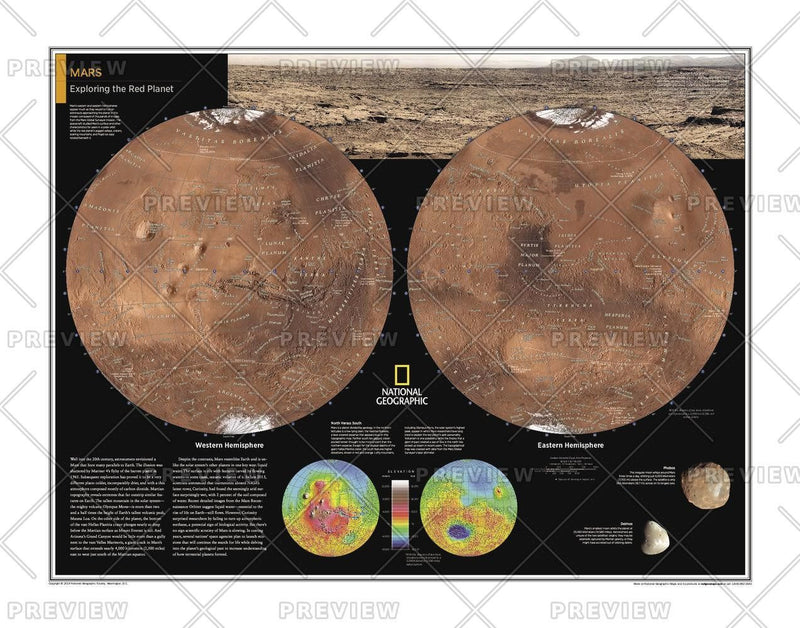 Mars: Exploring the Red Planet - Atlas of the World, 10th Edition