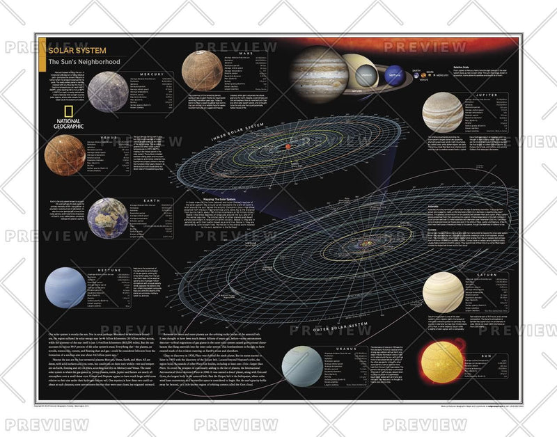 Solar System: The Sun's Neighborhood - Atlas of the World, 10th Edition