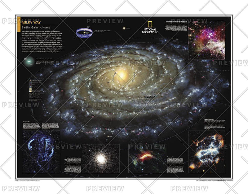 Milky Way: Earth's Galactic Home - Atlas of the World, 10th Edition
