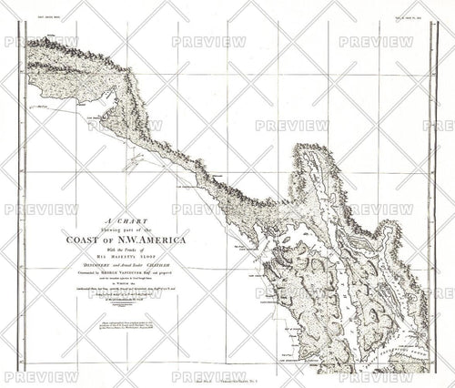 A Chart showing part of the Coast of NW America Side 2 - Published 1899