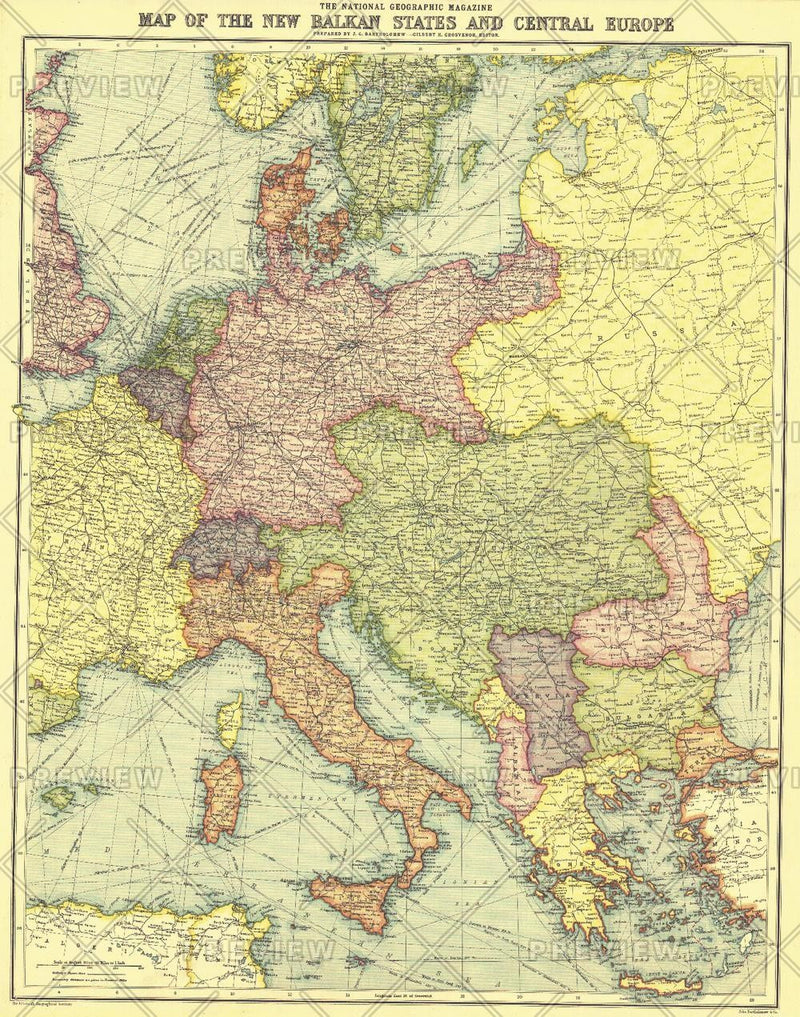 New Balkan States and Central Europe - Published 1914