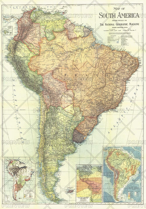 South America - Published 1921