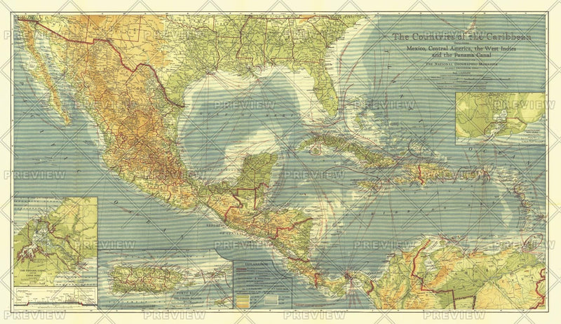Countries of the Caribbean - Published 1922