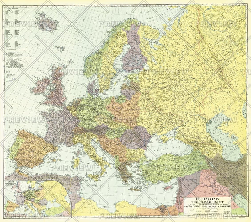Europe, and the Near East - Published 1929