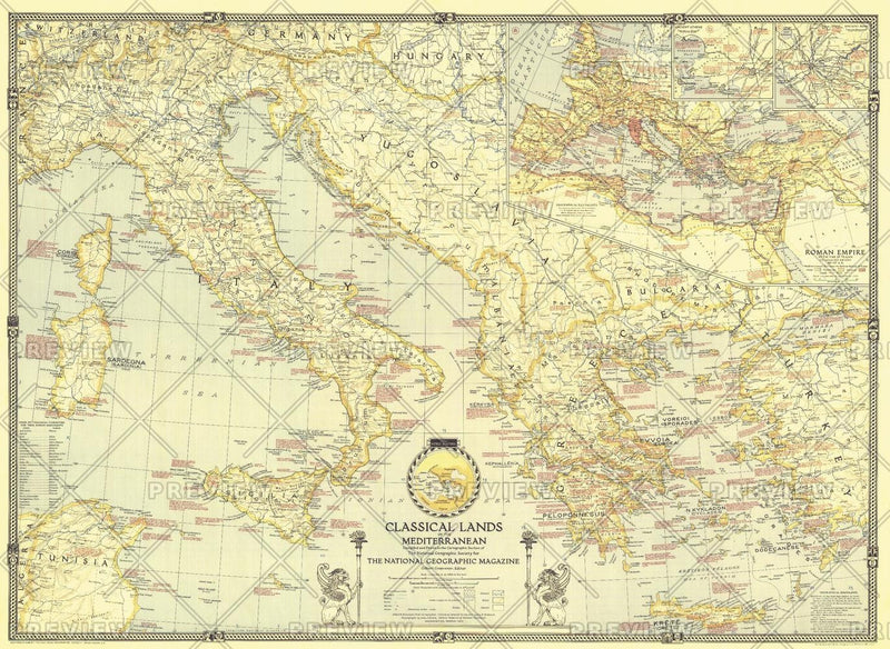 Classical Lands of the Mediterranean  -  Published 1940