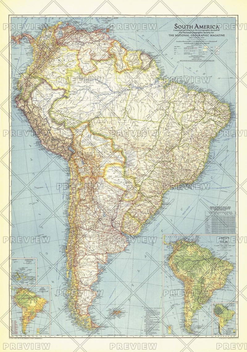 South America  -  Published 1942