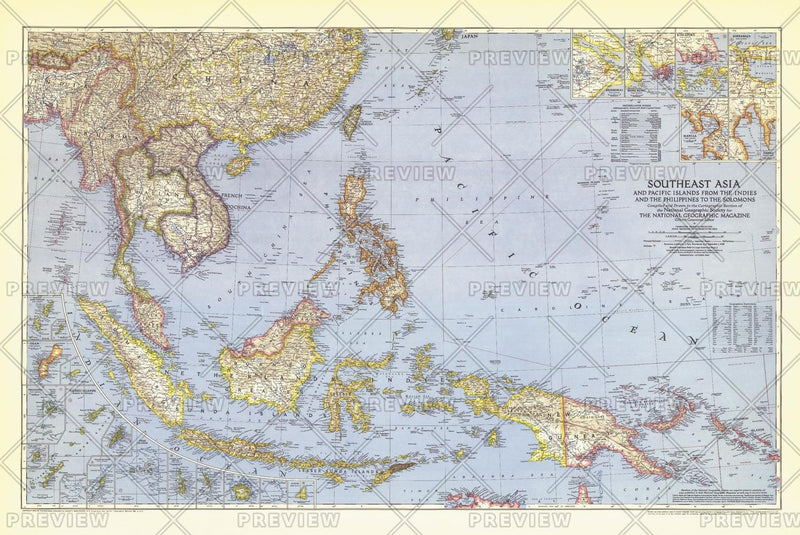 Southeast Asia and the Pacific Islands  -  Published 1944