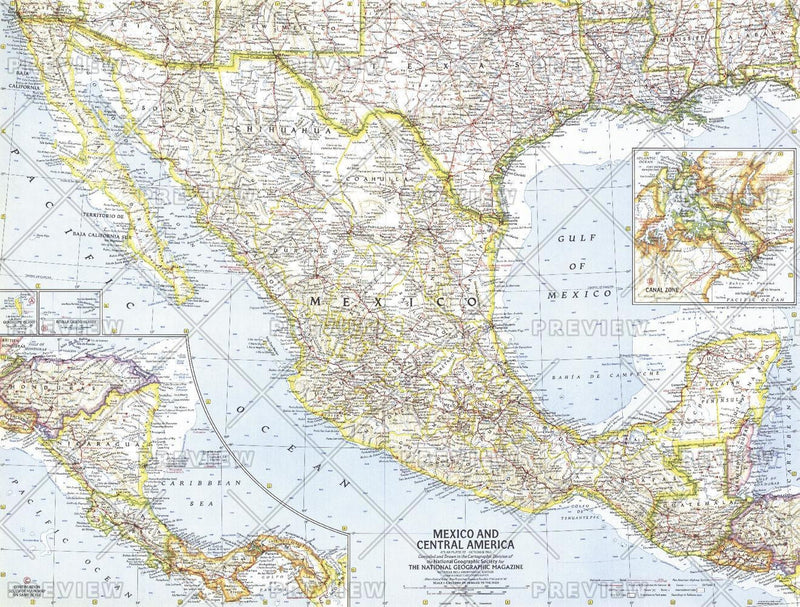 Mexico and Central America  -  Published 1961