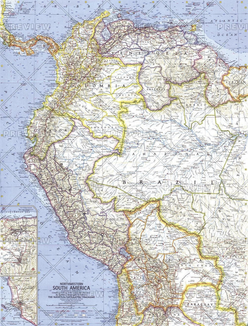 Northwestern South America  -  Published 1964
