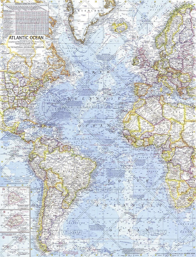 Atlantic Ocean  -  Published 1968