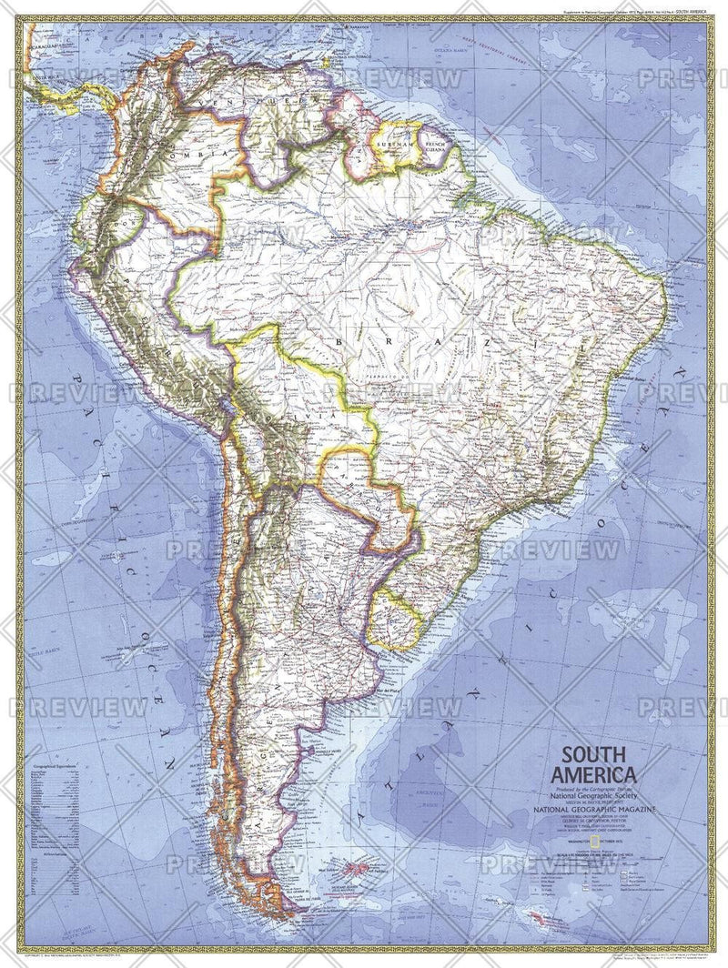 South America  -  Published 1972