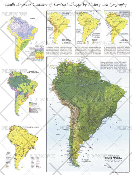Physical   of South America  -  Published 1972