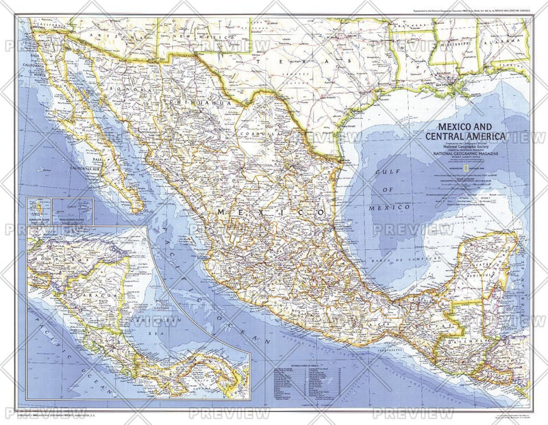 Mexico and Central America  -  Published 1980