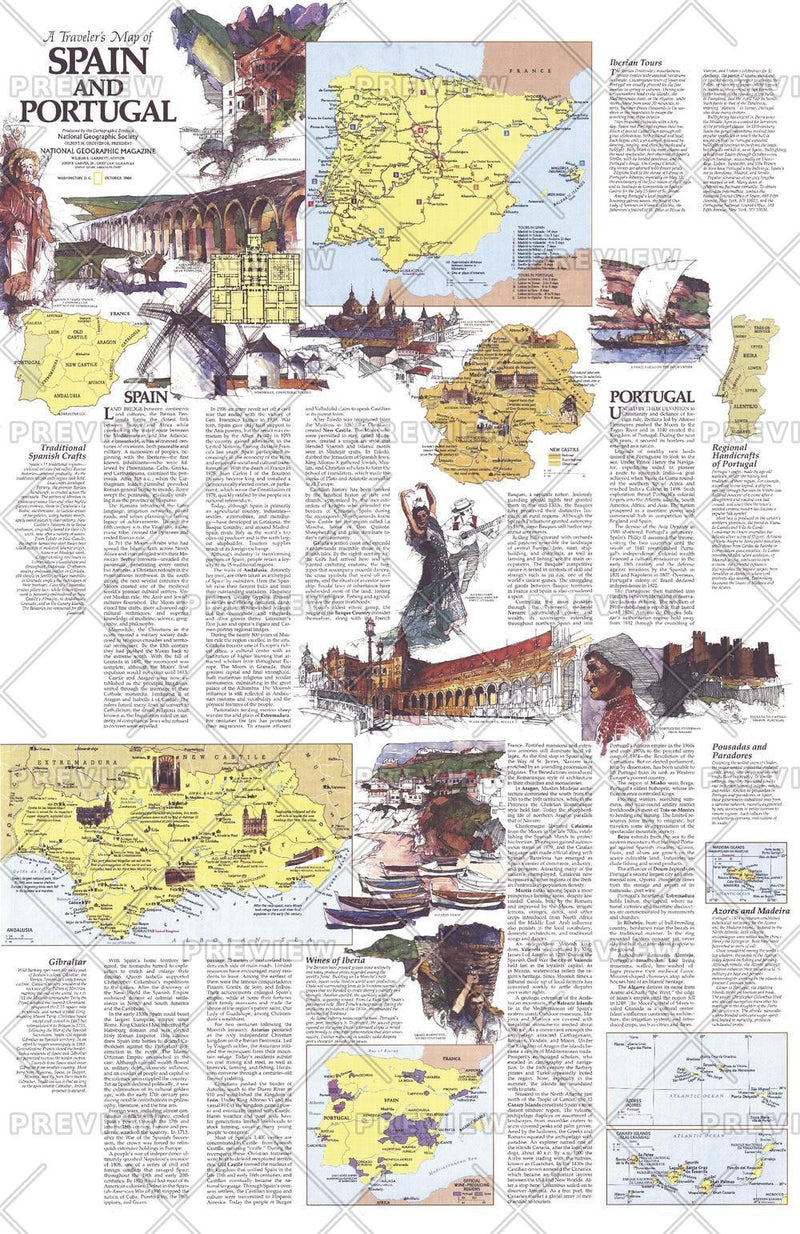 Travelers   of Spain and Portugal Theme - Published 1984