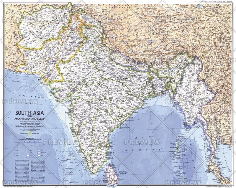 South Asia With Afghanistan and Burma  -  Published 1984