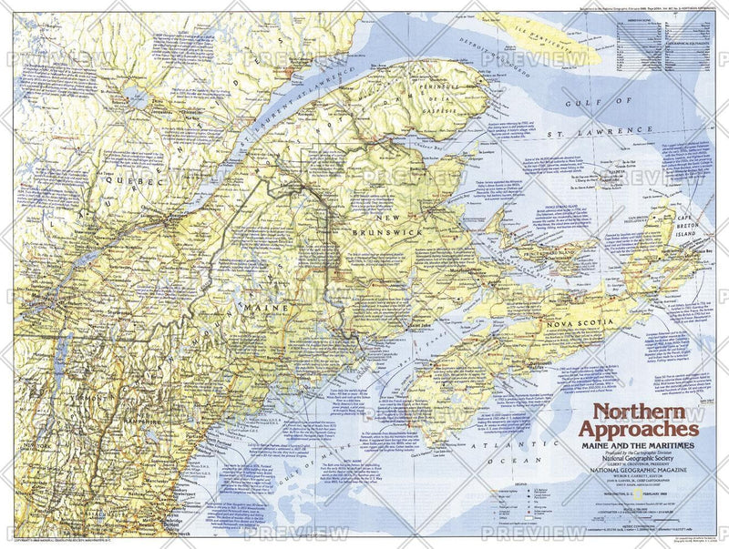 Northern Approaches Maine to the Maritimes  -  Published 1985