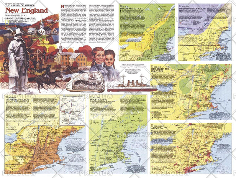 New England Map Side 2 - Published 1987
