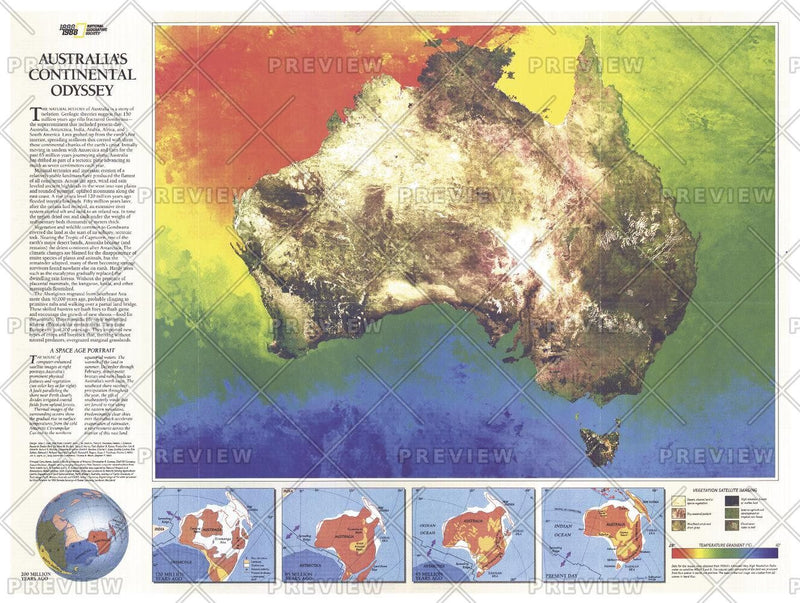Australia Continental Odyssey  -  Published 1988