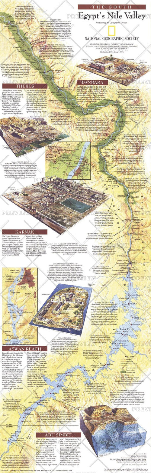 Egypts Nile Valley South  -  Published 1995
