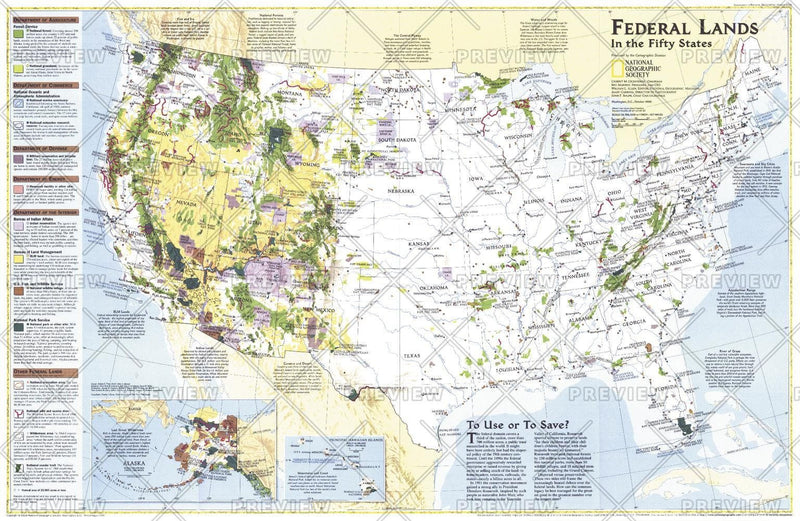 Federal Lands in the Fifty States - Published 1996