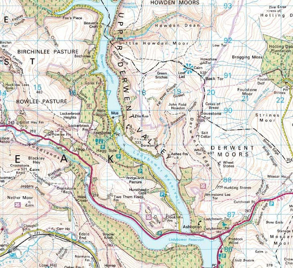 Peak District Laminated National Park Wall Map
