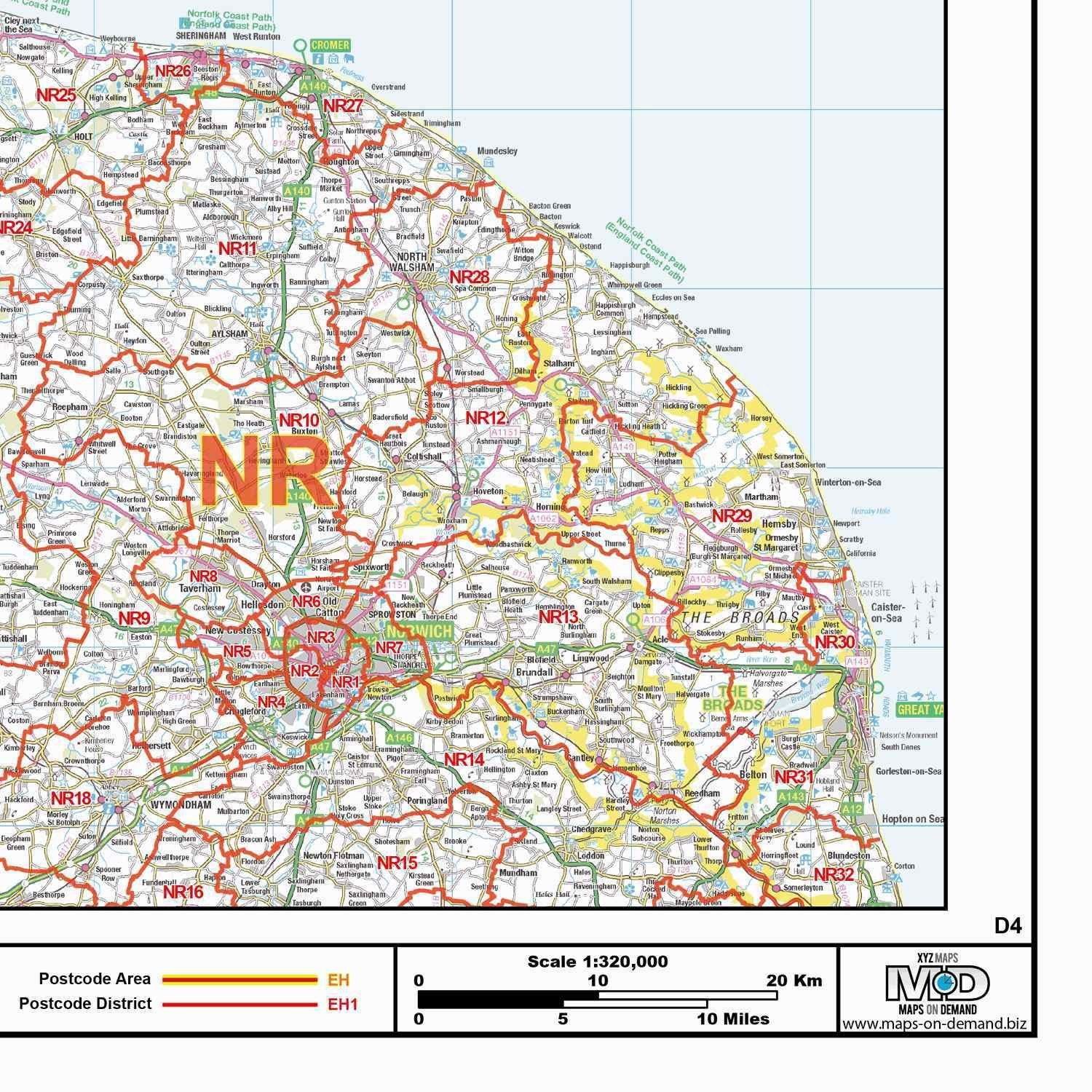 Map Of Northern England.Northern England Postcode District Map Gif Or Pdf Download D4