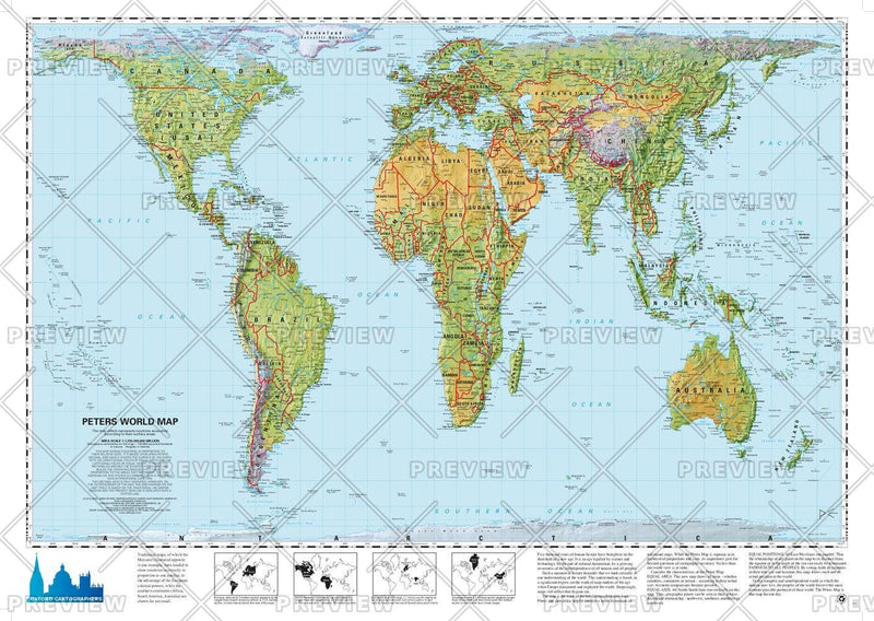 Peters Projection World Environmental