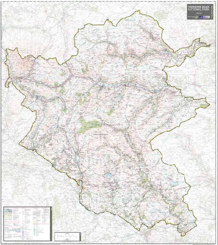 Yorkshire Dales National Park Wall Map