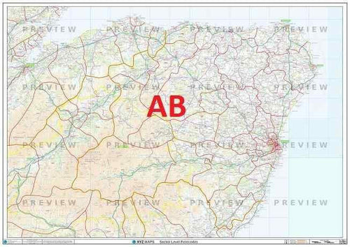 AB Postcode Map PDF or GIF Download