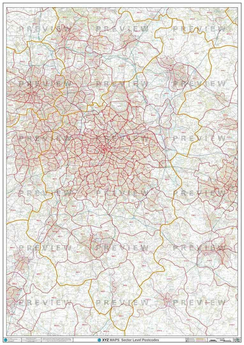 B Postcode Map PDF or GIF Download