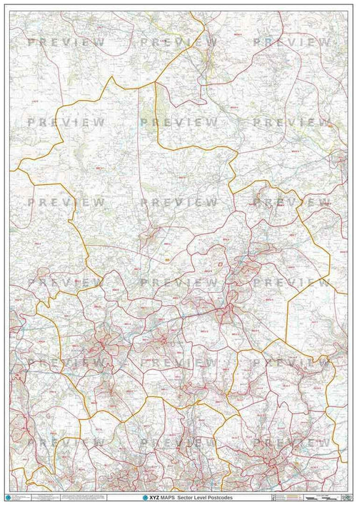 BB Postcode Map PDF or GIF Download