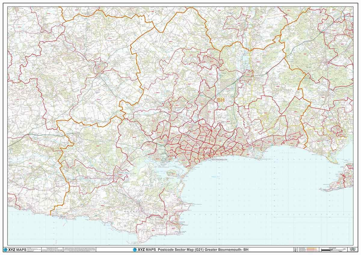 Greater London Postcode Map Pdf.Bh Postcode Map For The Bournemouth Postcode Area Gif Or Pdf Download