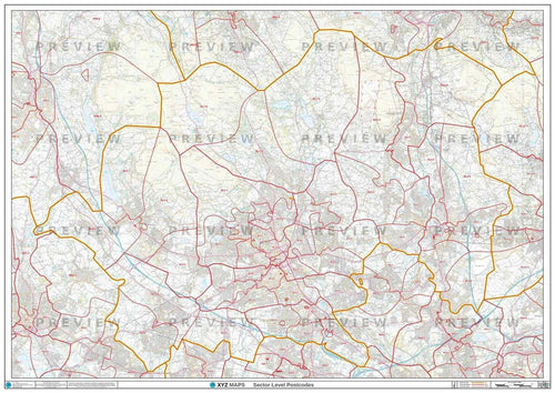 BL Postcode Map PDF or GIF Download