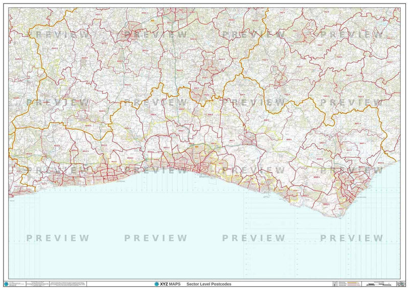 BN Postcode Map PDF or GIF Download