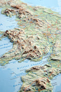 A closer look at the British Isles 3D Relief Map
