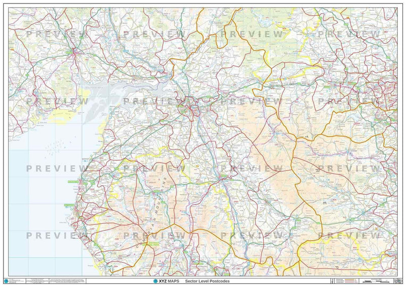 CA Postcode Map PDF or GIF Download