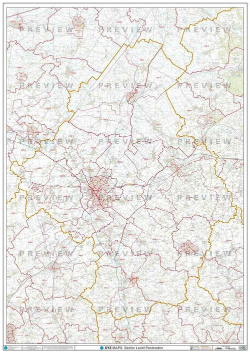 CB Postcode Map PDF or GIF Download