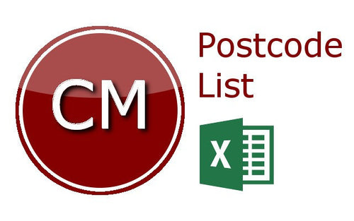 Chelmsford Postcode Lists