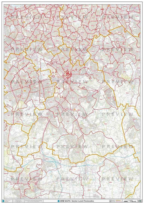 CR Postcode Map PDF or GIF Download
