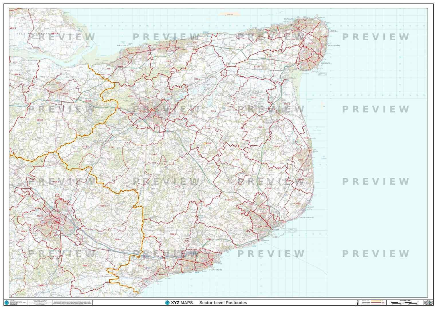 Ct postcode map for the canterbury postcode area gif or pdf ct postcode map pdf or gif download gumiabroncs Choice Image