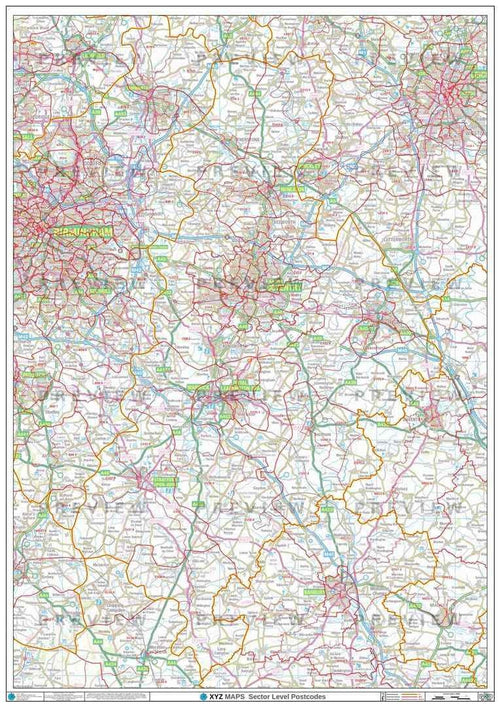 CV Postcode Map PDF or GIF Download