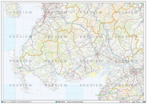 Dumfries & Galloway Postcode Map - Full Sheet
